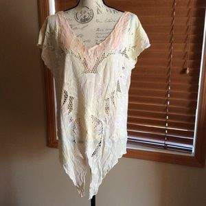Free People Tops - NWT Free People Castaway Crochet Detail Tunic S